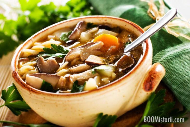Блюда из картофеля - картофельный суп с грибами